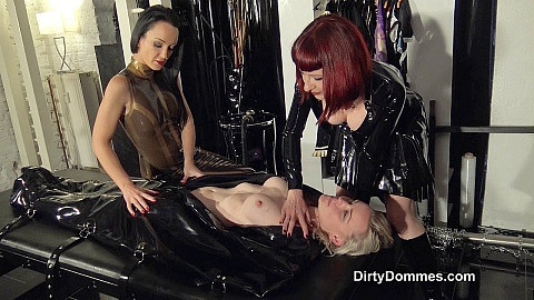 Bound rubber slave girl part 1