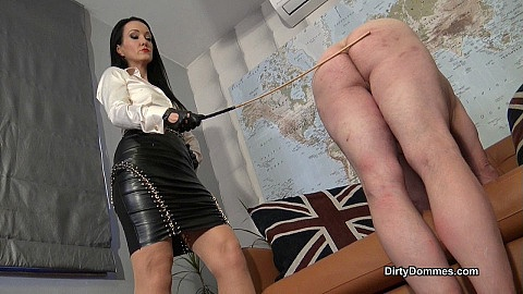 Caned disobedient house slave