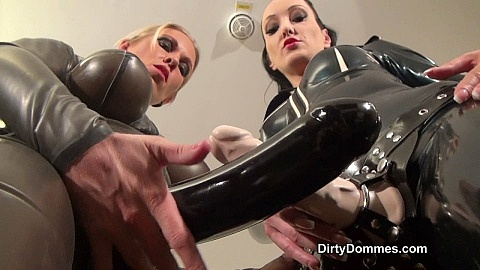 Duo strap-on worship