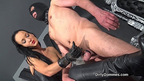 Leather boot humping slut