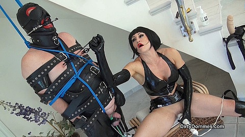 Milked and tormented bondage gimp part2