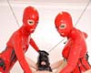 Fetish dolls strapon.       Valentina and Liza love to abuse their rubber fetish slut.. Click here to see more.